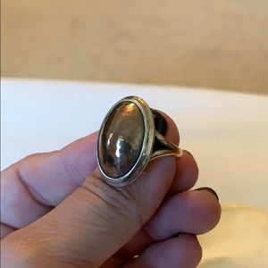 James Avery copper + sterling silver dome ring.